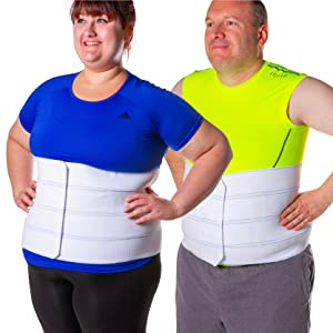 our abdominal support fits men and women with large stomach
