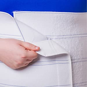medical grade velcro can cause binder to fray