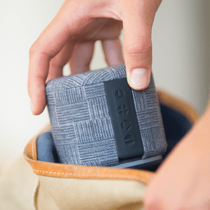 Portable WiFi and Bluetooth Smart Speaker with Amazon Alexa by FABRIQ: Wireless Connectivity with Stereo Pairing for Multi-Room Home Audio (Arrows)