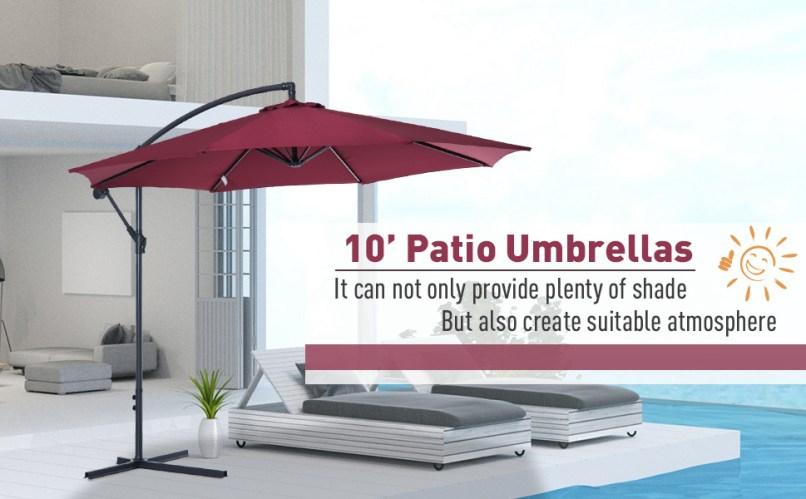Steel Hanging Offset Patio Umbrella