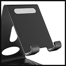 Cell phone holder has non slip foam at the bottom for sturdiness