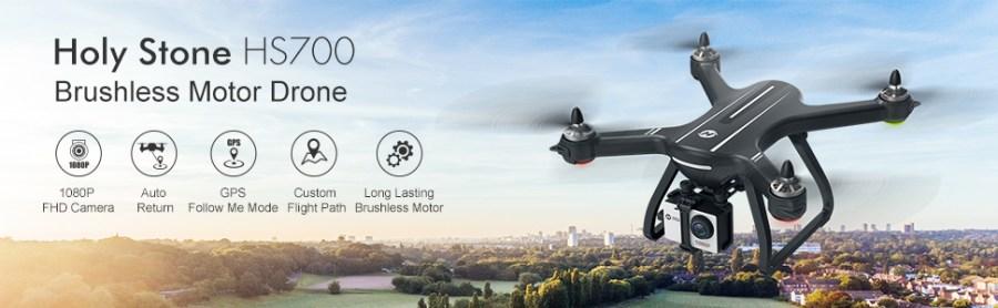 Zangão sem escova com transmissão video viva da câmera 1300ft de GPS 1080P HS