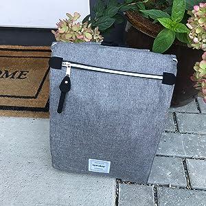 Kjarakar Charcoal bag goes anywhere