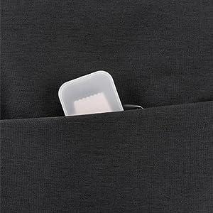 front zipper pocket