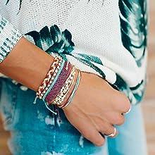 colorful bracelets jeans girls hand