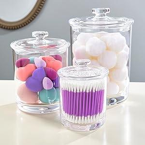 bathroom apothecary jars