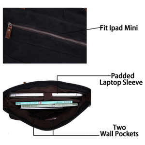 large capacity shoulder messenger laptop bag for women men business
