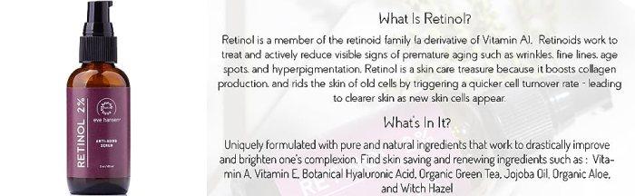 anti wrinkle cream attention serum under eye serum evening lotion retinol serum antiaging serum dark spots