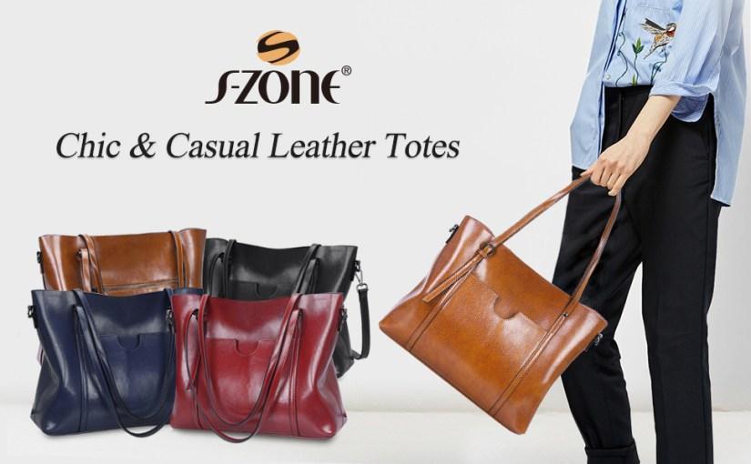 Women Leather Tote Shoulder Bag