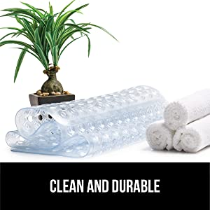 clean and durable bath and shower mat
