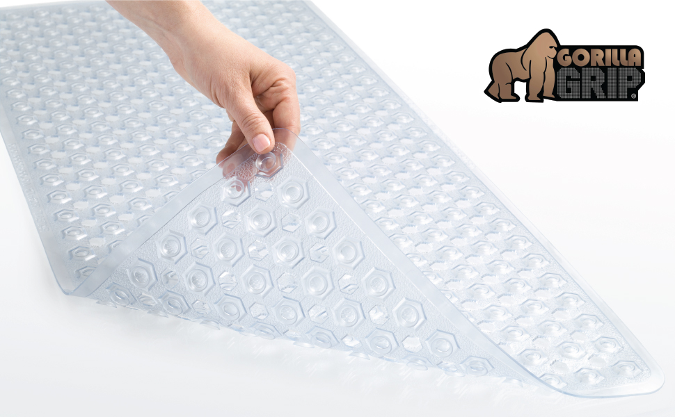 clear bath mat gorilla grip