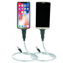 android metal charger cable, iphone desk mount, phone bed stand, metal usb cord