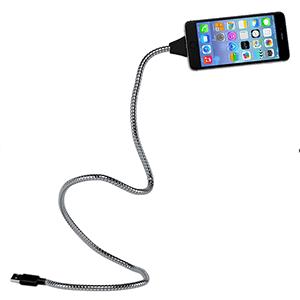 steel lightning cable, metal charger, titan lightning cable, adjustable phone holder for desk