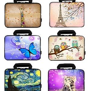 """Different colors 12"""" Laptop Handle Bag"""