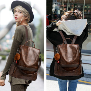 pu leather backpack for girl
