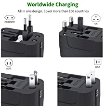 Worldwide charger adapter plug adapter