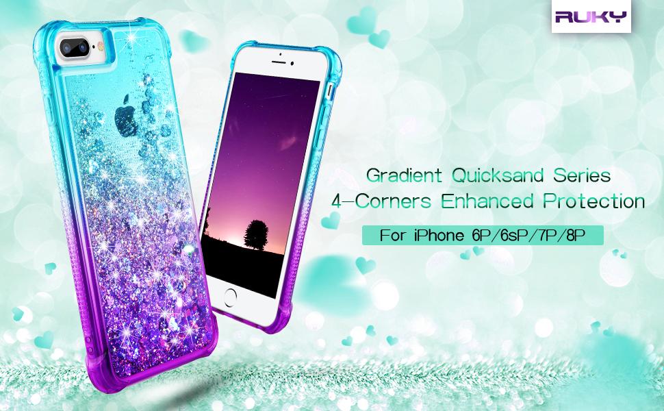 iphone 8 plus glitter case