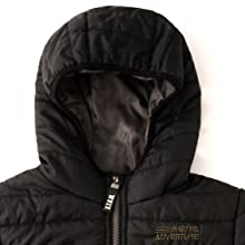Big boys winter jackets with hood collar full zipper windproof ski snow coats with long sleeves