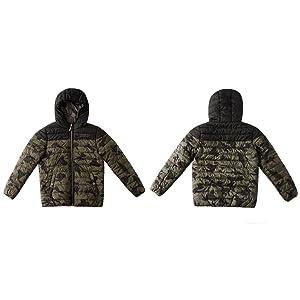 Teen Boys Casual Warm School Uniform Jackets Winter Long Sleeves Hooded Collar Outerwear Clothes Kid