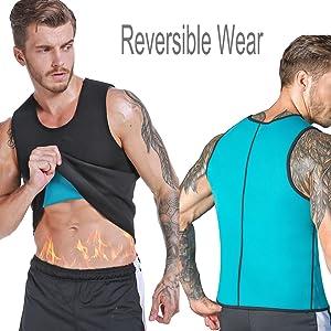 Men Neoprene Waist Trainer Sauna Sweat Suit Workout Vest Tank Top Tummy Control Shapewear Slimming Body Shaper 22