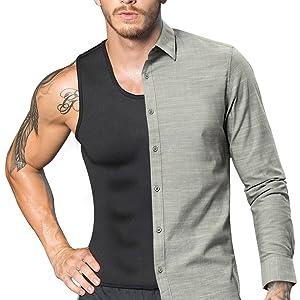 Men Neoprene Waist Trainer Sauna Sweat Suit Workout Vest Tank Top Tummy Control Shapewear Slimming Body Shaper 20