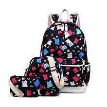 school bcakpack colourful school abg