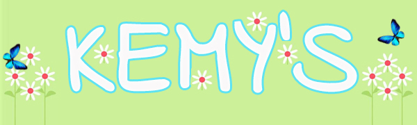 Kemy's logo with daisy and butterfly