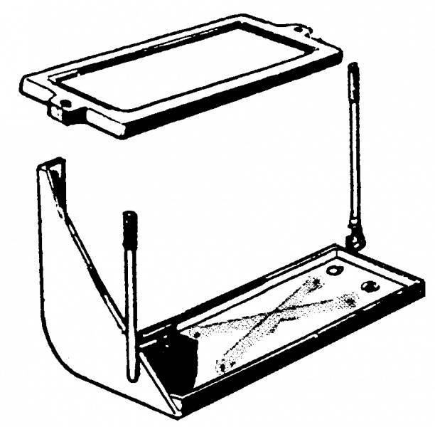 1953-55 Ford F-100 Battery Tray 53-55 (group 24 Battery
