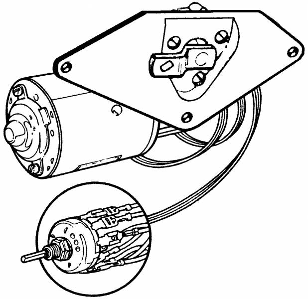 1953-55 Ford F-100 Wiper Motor Kit, 53-55 Complete With
