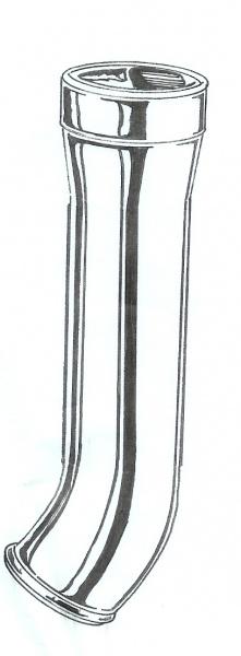 1953-70 Ford F-100 Gas Filler Tube Pipe Neck 53-56 Chrome