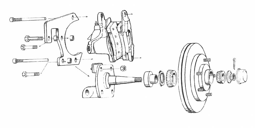 1948-56 Ford F-100 Disc Brake Conversion, Front 5 X 4 1/2