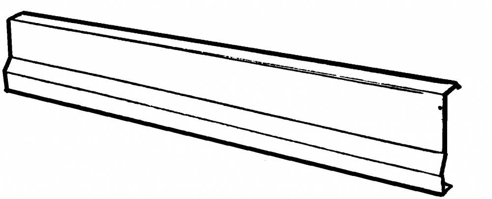 1953-56 Ford F-100 Floor Sill Rocker Covers, Polished