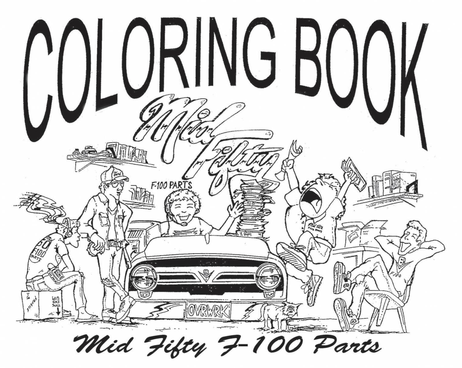 1953-56 Ford F-100 Mid Fifty Coloring Book