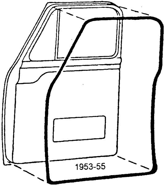 1953-55 Ford F-100 Door Weatherstrip, 53-55 Exact Of
