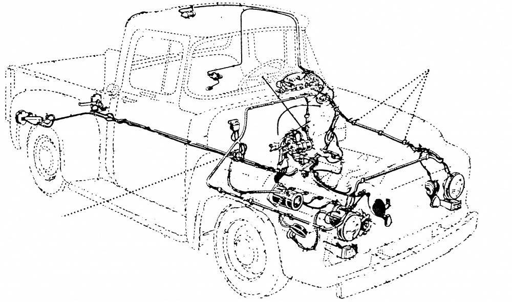 1953-56 Ford F-100 Wiring Harness