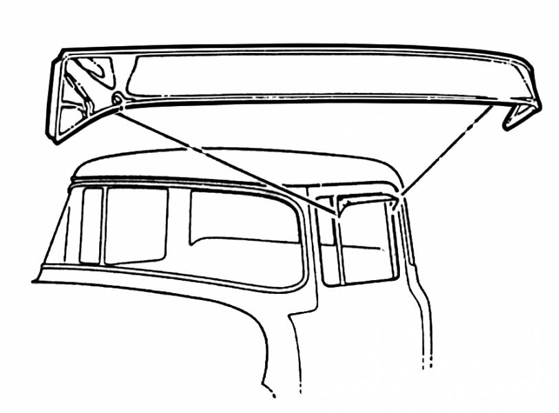 1953-55 Ford F-100 Side Window Vent Visor Shades, 53-55