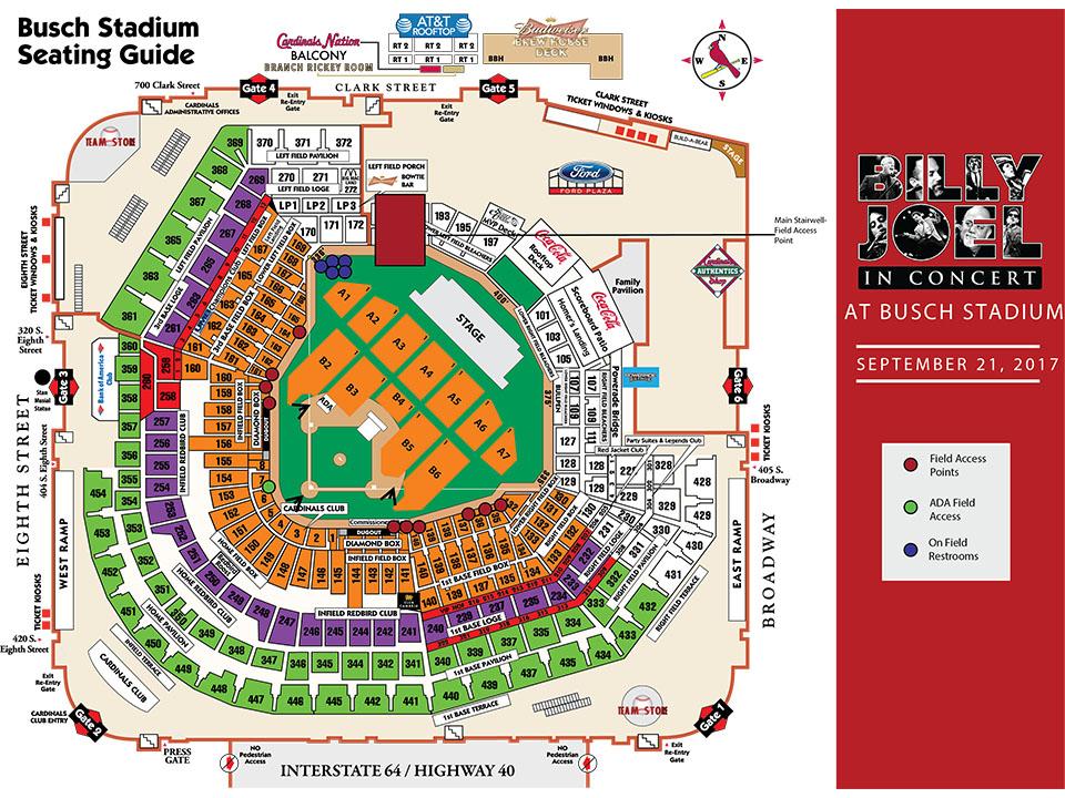 St Louis Cardinals Stadium Seating Map | Wallseat.co on