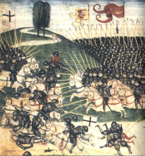 Bitwa pod Grunwaldem. Diebold Schilling, miniatura (XV wiek).