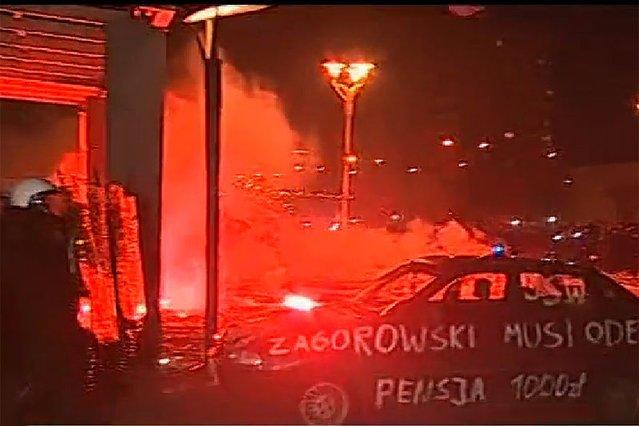 Zamieszki przed siedzibą JSW.