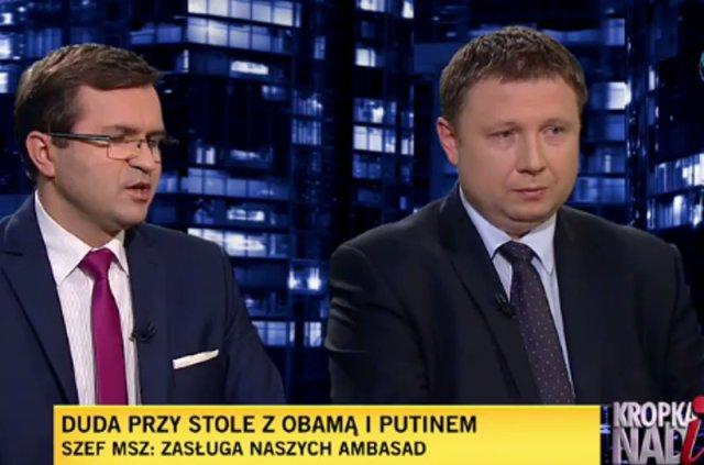 Poseł Giżyński tłumaczy prezydenta Dudę z niezręcznej sytuacji.