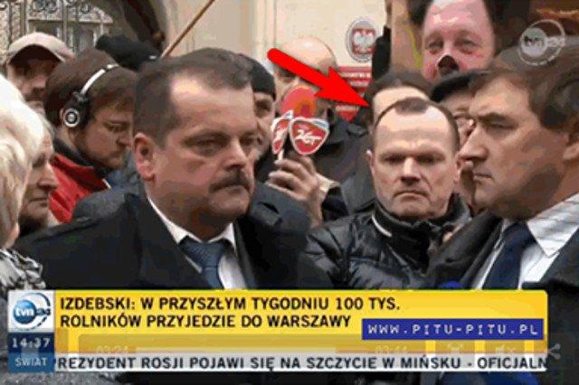 Andrzej Hadacz pojawił się na proteście rolników