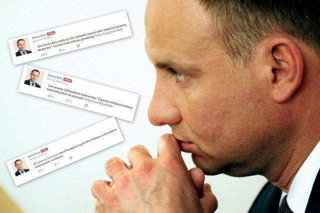 Andrzej Duda i jego archiwalne wpisy. Kandydat PiS o homopropagandzie i lemingach.