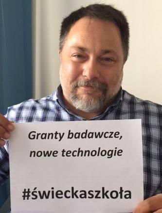 Marcin Celiński chciałby przeznaczyć pieniądze zaoszczędzone na lekcjach religii na granty badawcze i nowe technologie.