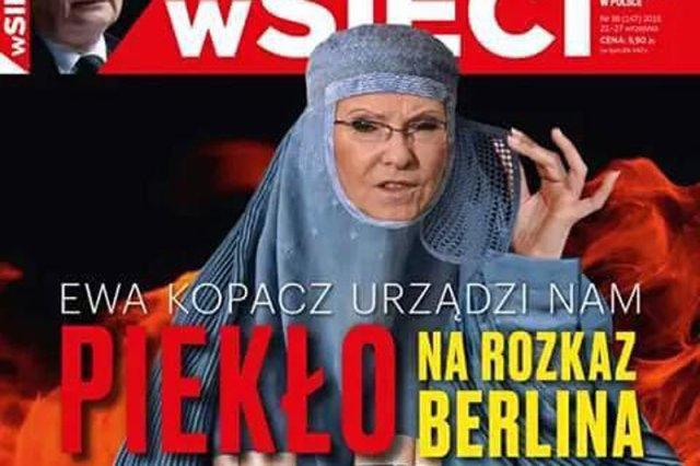"""Tak wygląda najnowsza okładka tygodnika """"wSieci""""..."""