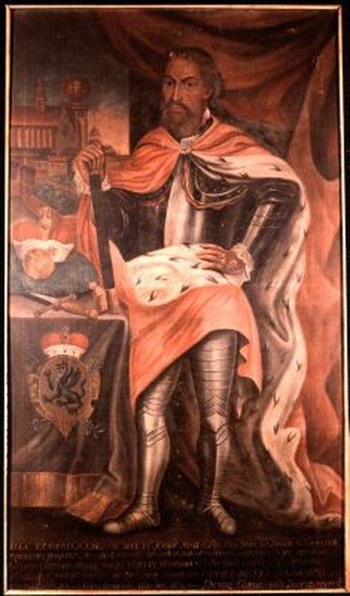 Portret imaginacyjny księcia Jaksy z Kopnika z klasztoru Norbertanek, 1757.