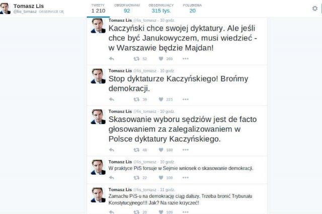 Tomasz Lis ostrzega PiS: w Warszawie będzie Majdan.