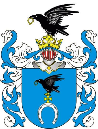 Herb Ślepowron, którym legitymował się ród Jaruzelskich.