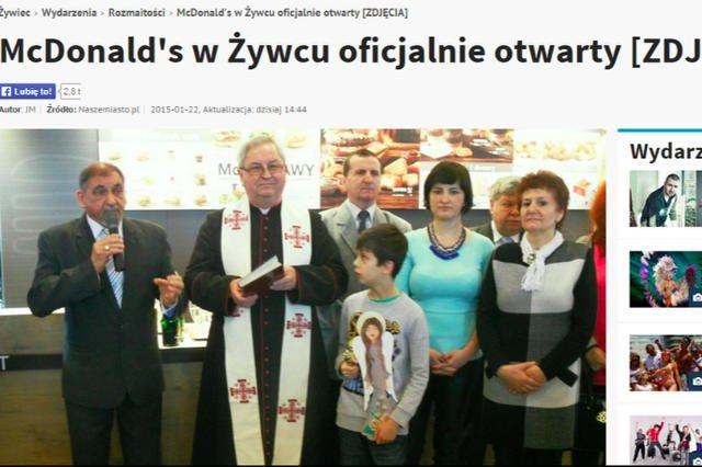 Otwarcie McDonald's w Żywcu