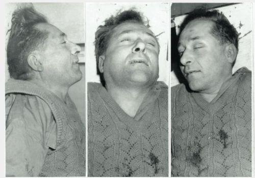 Józef Franczak po śmierci, 1963 r.