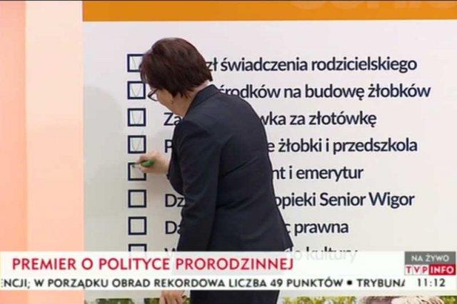 Ewa Kopacz podsumowała rok swojego rządu.